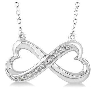 Infinity Heart Diamond Pendant