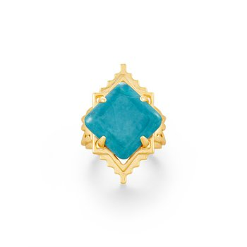 Cass in Teal Howlite (Size 8)