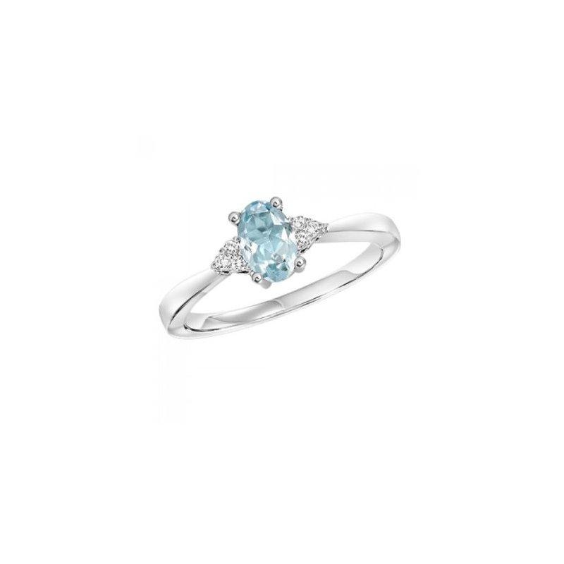 Kelley Collection  Aquamarine & Diamond Ring