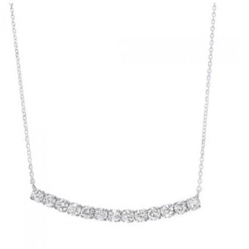 Diamond Curved Bar Pendant