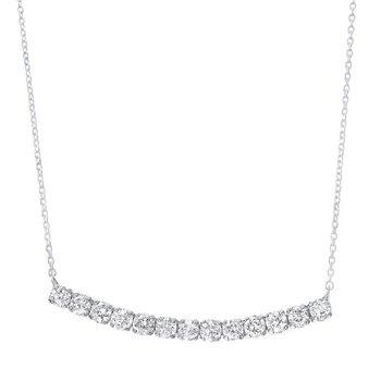 Diamond Curved Bar Pendant
