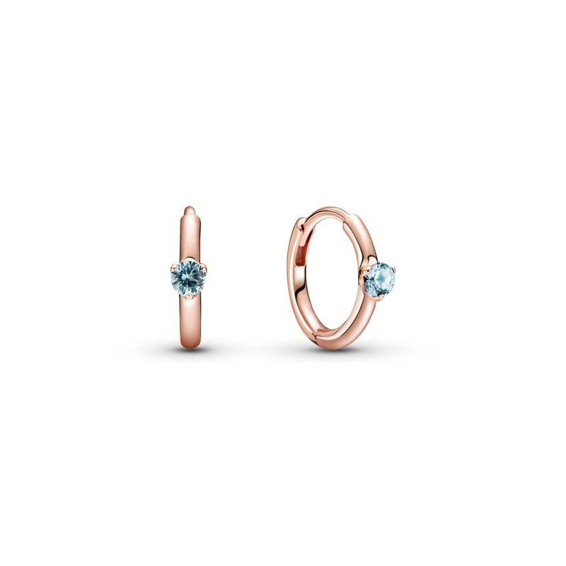 PANDORA Light Blue Solitaire Huggie Hoop Earrings