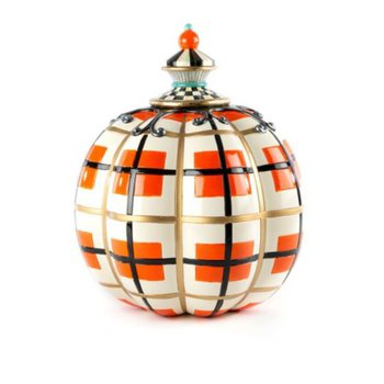 Tartan Spice Pumpkin - Orange Plaid