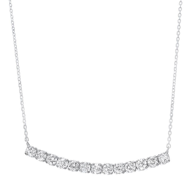 Kelley Collection  Diamond Curved Bar Pendant