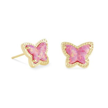Lillia Butterlfy Studs in Rose Pink Opal