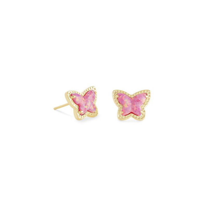 Kendra Scott Lillia Butterlfy Studs in Rose Pink Opal
