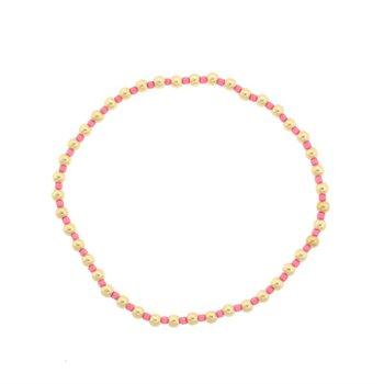 Hope Grateful Pattern Bracelet - Pink