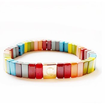 Enamel Stretch Bracelet