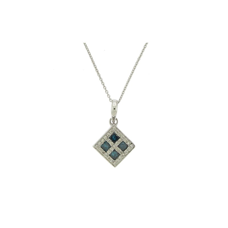 Kelley Collection  Square Diamond Pendant