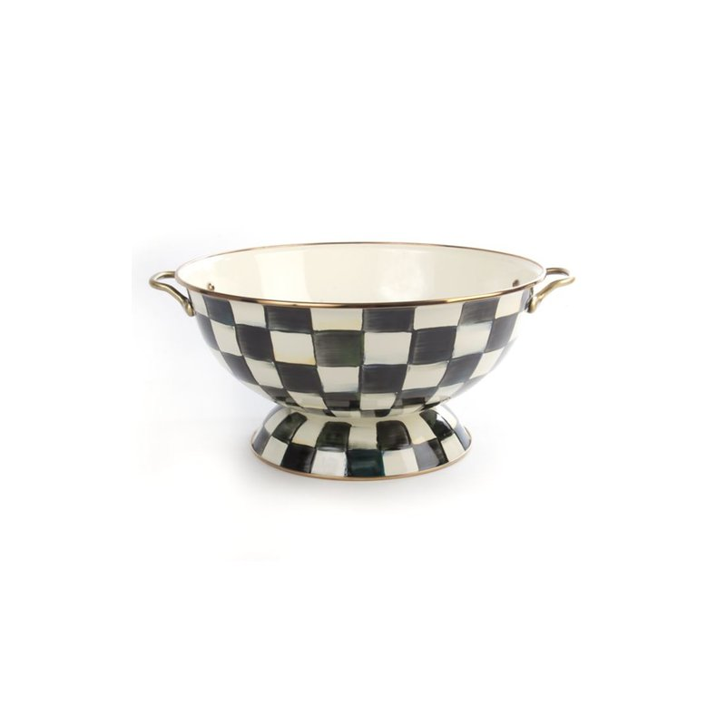 MacKenzie-Childs Courtly Check Enamel Everything Bowl