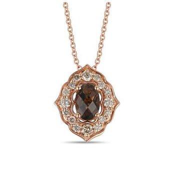 Chocolate Quartz® & Nude Diamond™ Pendant