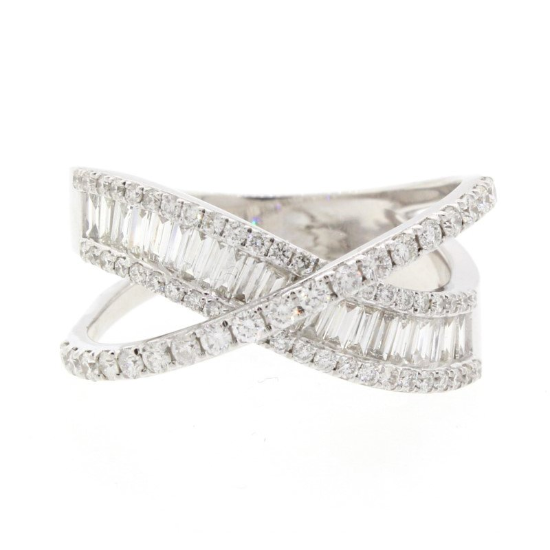 Kelley Collection  Baguette & Round Diamond Ring
