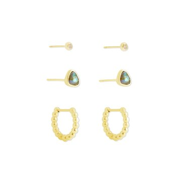 Ivy Earring Set in Iridescent Abalone