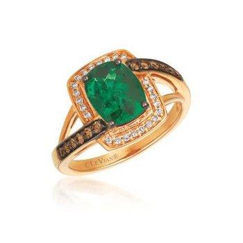Chocolatier® Costa Smeralda Emeralds™ Chocolate Diamonds® Ring