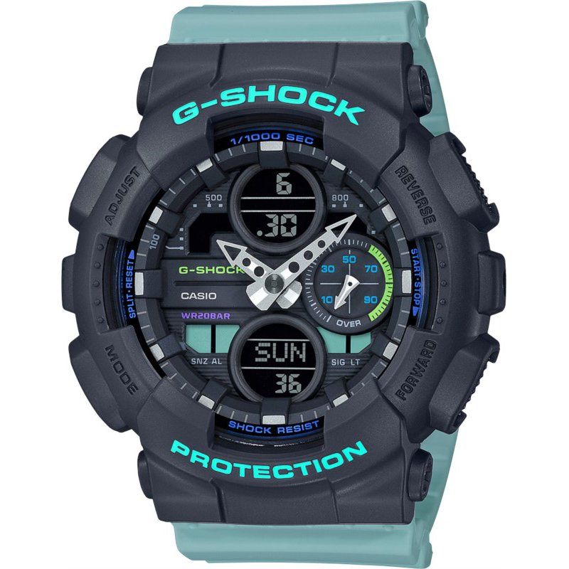 G-Shock S-Series Blue Resin Watch with Black Dial