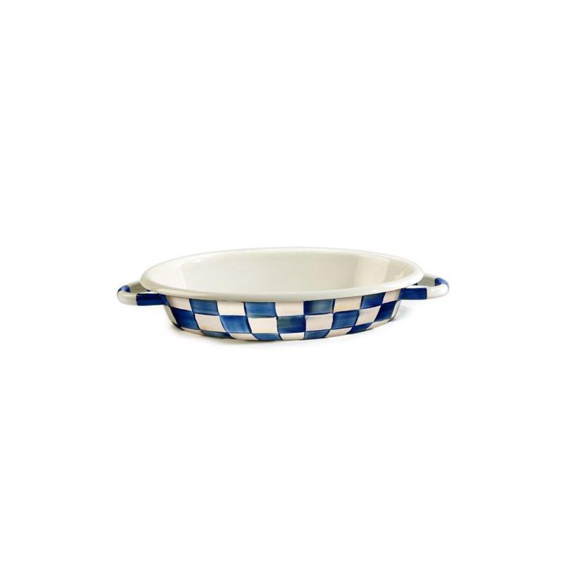 MacKenzie-Childs Royal Check Oval Gratin Dish - Medium