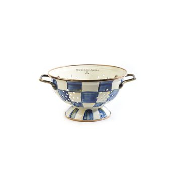 Royal Check Enamel Colander - Small