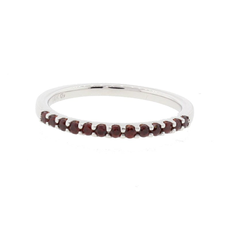 Kelley Collection  Garnet Stackable Band