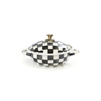 Courtly Check Enamel Casserbole - Medium