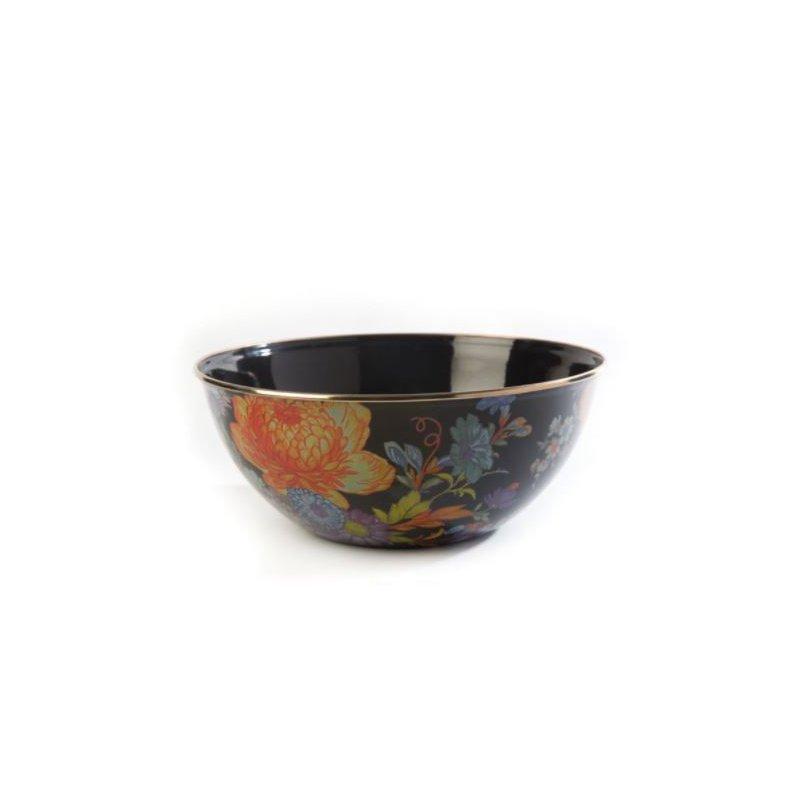 MacKenzie-Childs Flower Market Large Everyday Bowl - Black