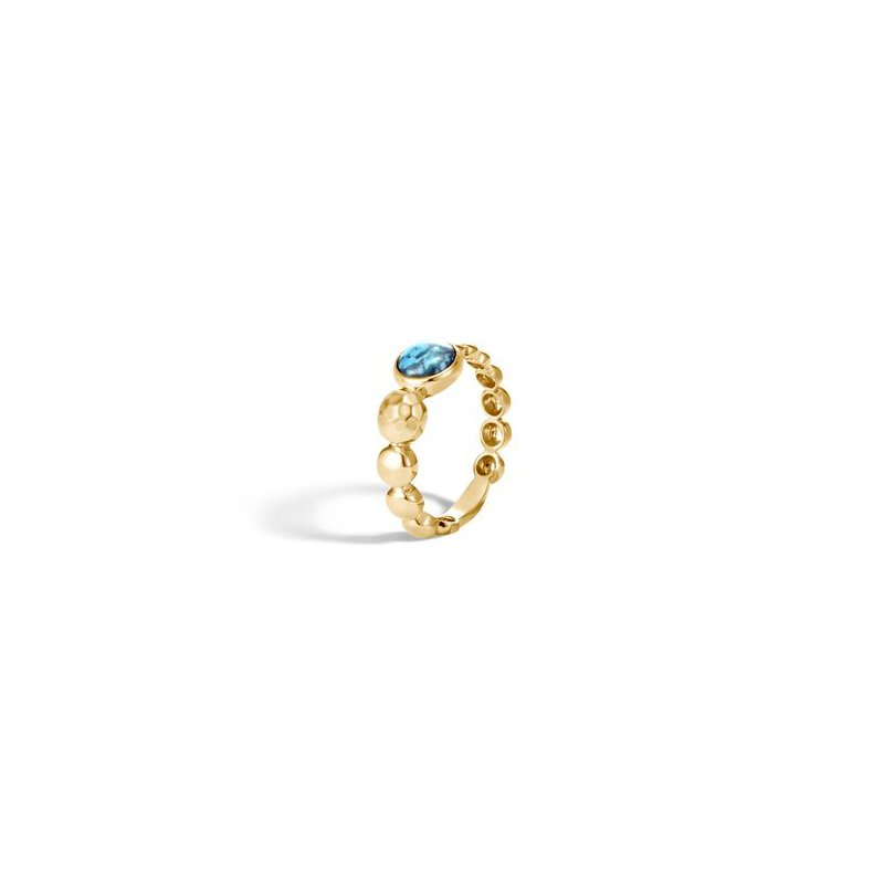 John Hardy Hammered Ring with Turquoise