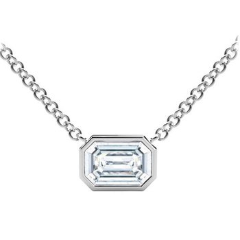 Tribute™ Collection Emerald Diamond Necklace