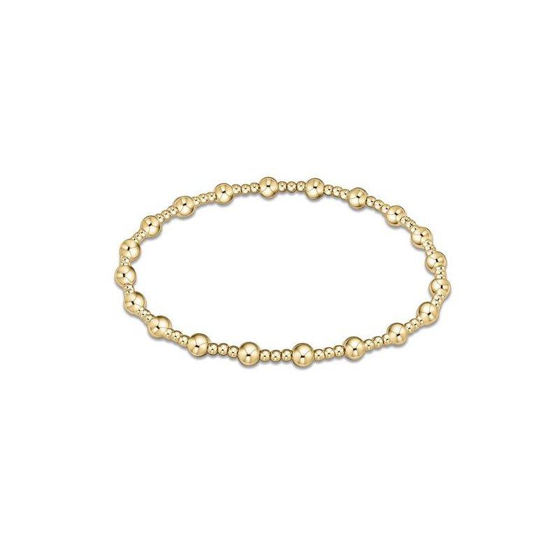 ENewton Design Classic Sincerity Pattern 4mm Bead Bracelet - Gold