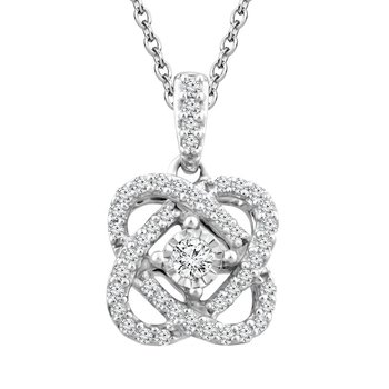 Diamond  Love's Crossing Pendant