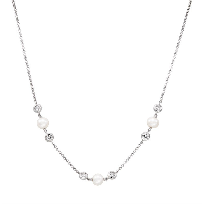 Honora Freshwater Cultured Pearl Station Necklace