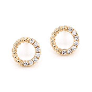 Diamond Circle Studs