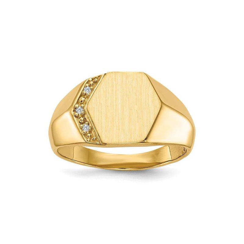 Kelley Collection  Diamond Signet Ring