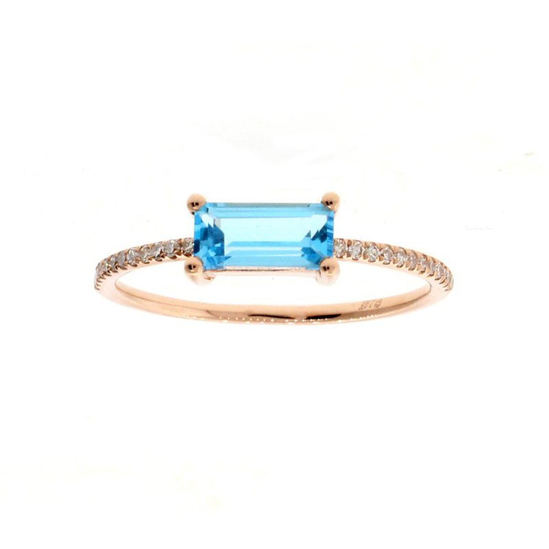 Kelley Collection  Blue Topaz Bar Ring