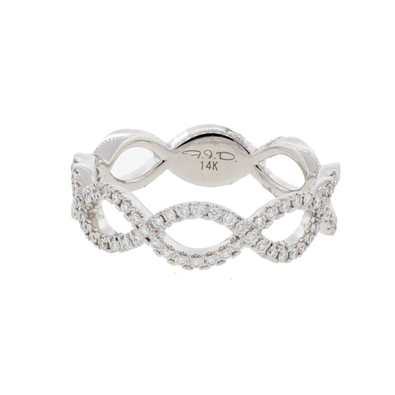 Kelley Collection  Twisted Diamond Band