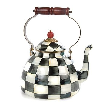 Courtly Check Enamel Tea Kettle - 3 Quart