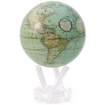 "4.5"" Antique Terrestrial Green Globe"