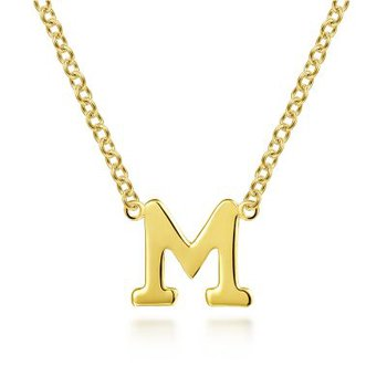 """""""M"""" Initial Necklace"""