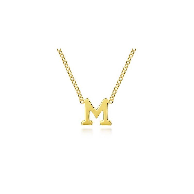 """Gabriel NY Fine Jewelry """"M"""" Initial Necklace"""