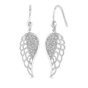 Diamond Angel Wing Earrings