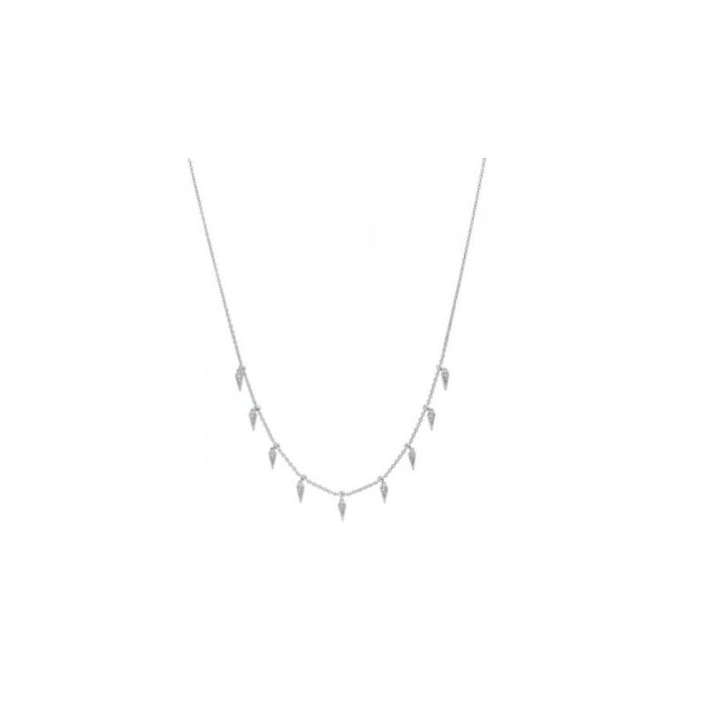 Kelley Collection  Diamond Dangle Station Necklace