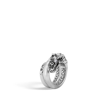 Naga Ring with Black Spinel