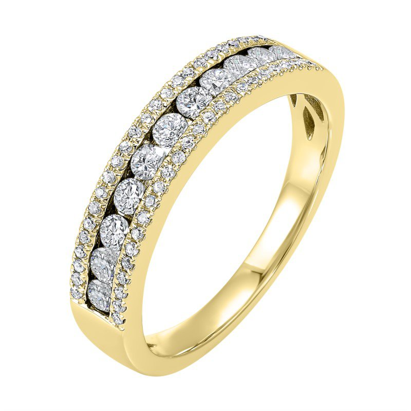 Kelley Collection  Three-Row Diamond Band