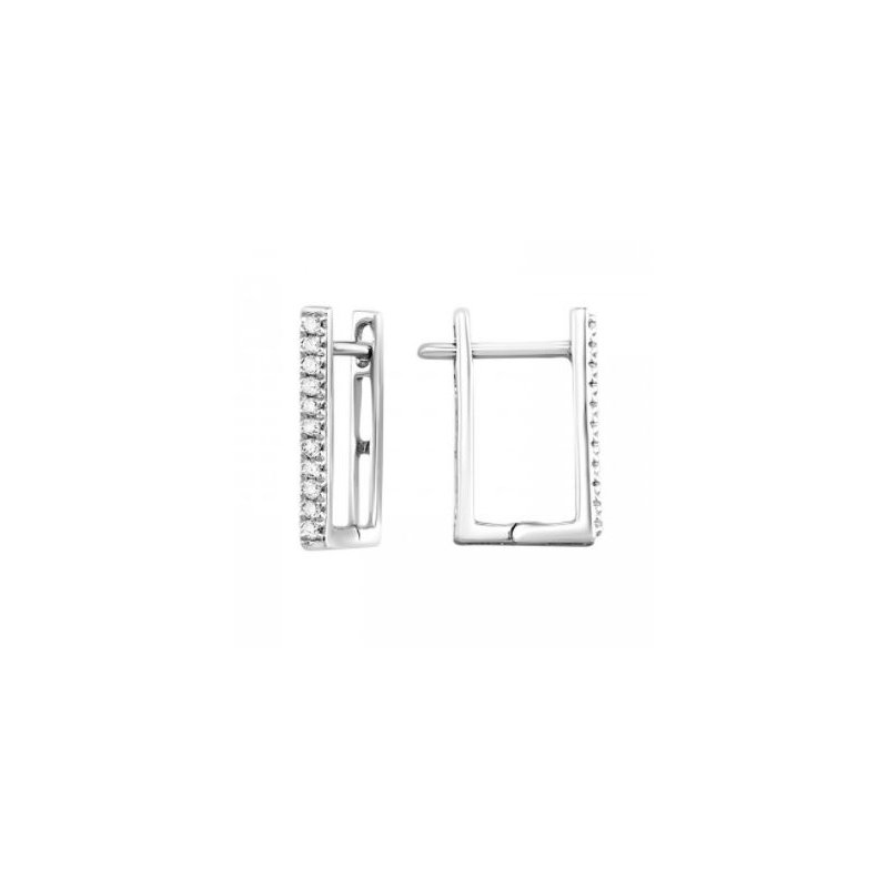 Kelley Collection  Diamond Square Hoops