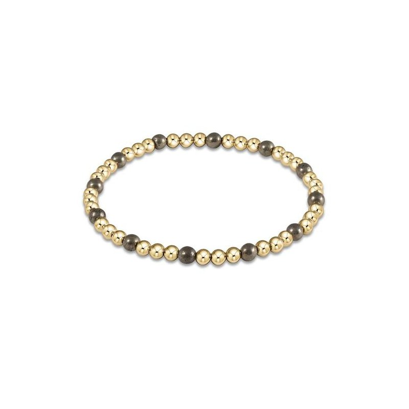 ENewton Design Sincerity Pattern Bead Bracelet - Sodalite & Gold