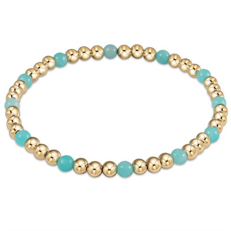 ENewton Design Sincerity Pattern Bead Bracelet - Amazonite