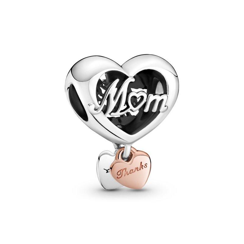PANDORA Thank You Mom Heart Charm