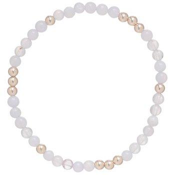 Worthy Pattern 4 mm Bead Bracelet-Pearl