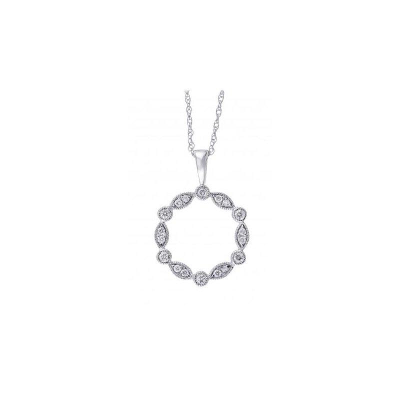 Kelley Collection  Diamond Circle Pendant