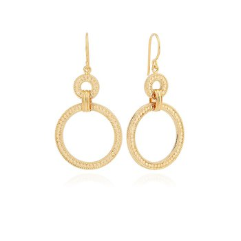 Dotted Double Hoop Earrings