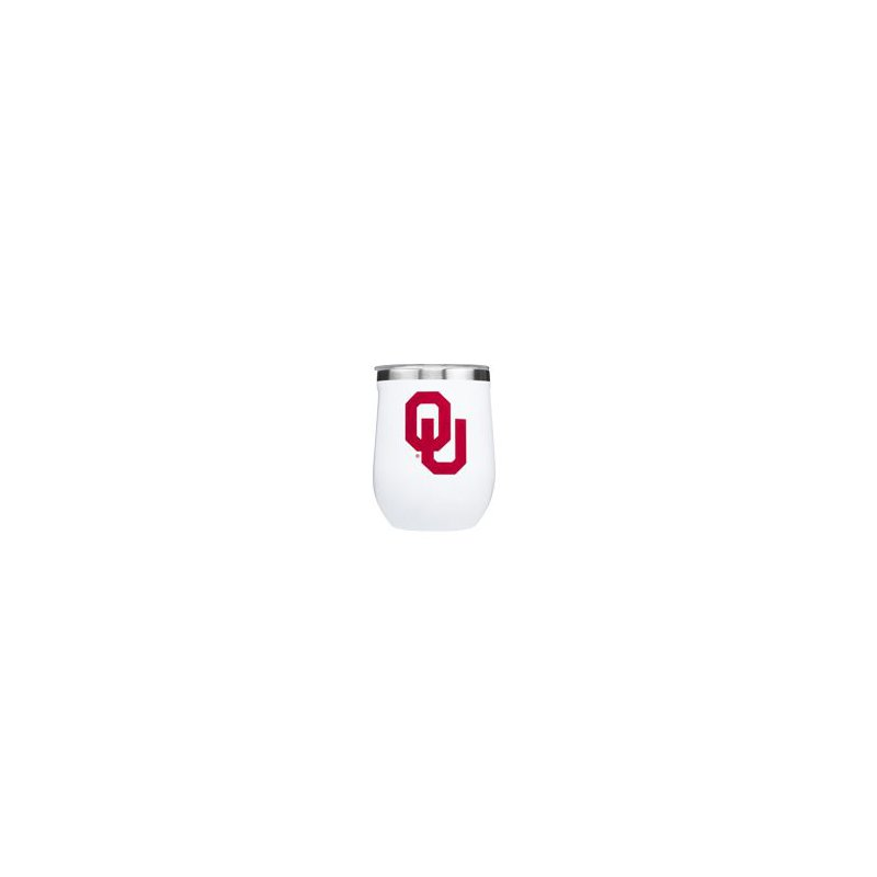 Corkcicle 12oz Oklahoma University Stemless