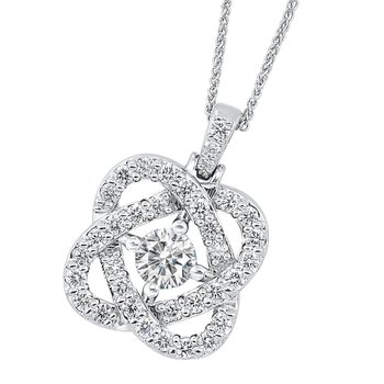 Diamond Love Crossing Pendant